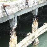 Kết cấu cầu cảng bị xâm thực nước biển